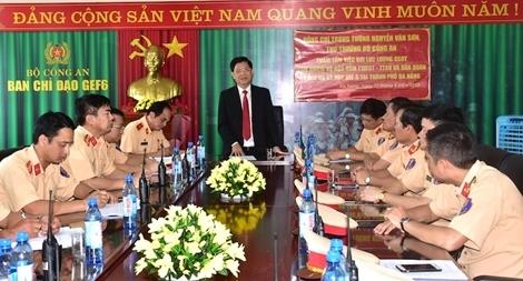 Thứ trưởng Nguyễn Văn Sơn kiểm tra công tác đảm bảo  ATGT phục vụ GEF 6