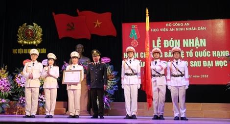 Khoa Đào tạo Sau đại học, Học viện ANND đón nhận Huân chương Bảo vệ Tổ quốc