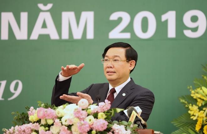 Phó Thủ tướng Vương Đình Huệ phát biểu tại hội nghị. Ảnh: VGP/Thành Chung