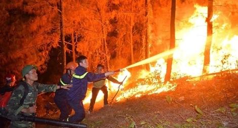 """Tạo """"đường băng"""" ngăn đám cháy rừng, đảm bảo an toàn cho hàng trăm hộ dân"""