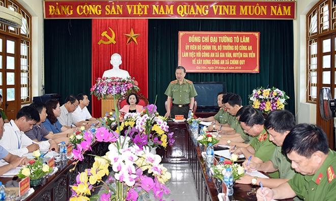 Bộ trưởng Tô Lâm làm việc với Công an Ninh Bình về xây dựng Công an xã chính quy - Ảnh minh hoạ 2