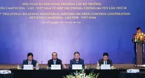 Khai mạc Hội nghị cấp Bộ trưởng Việt Nam - Lào - Campuchia về phòng, chống ma tuý
