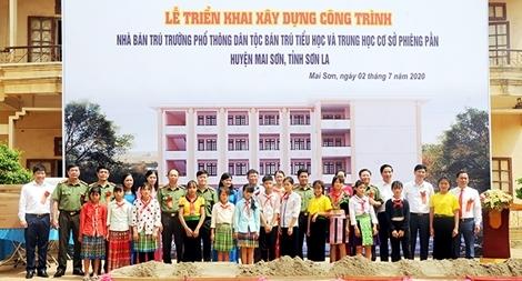 Bộ Công an xây dựng nhà bán trú, nhà ở cho trường học ở Sơn La