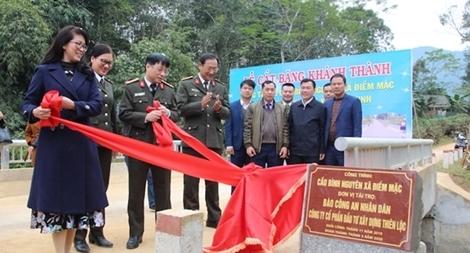 Khánh thành hai cây cầu dân sinh tại huyện Định Hóa, tỉnh Thái Nguyên