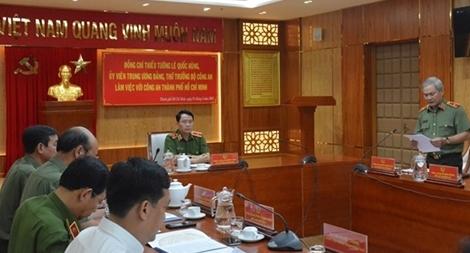 Thứ trưởng Lê Quốc Hùng làm việc với Công an TP Hồ Chí Minh