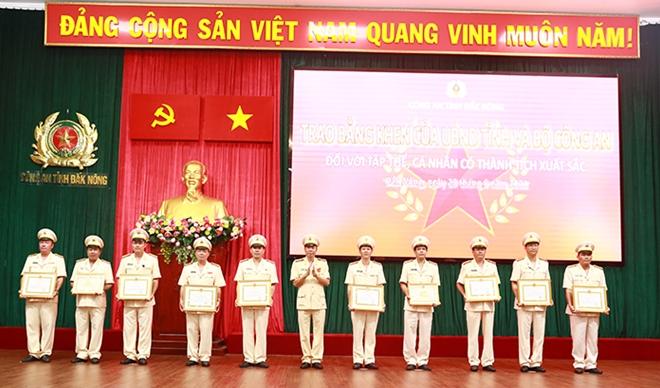 Công an Đắk Nông lập nhiều thành tích trong 6 tháng đầu năm 2021