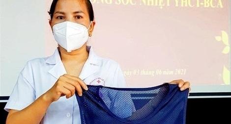 BV Y học cổ truyền Bộ Công an ra mắt áo chống sốc nhiệt cho nhân viên y tế