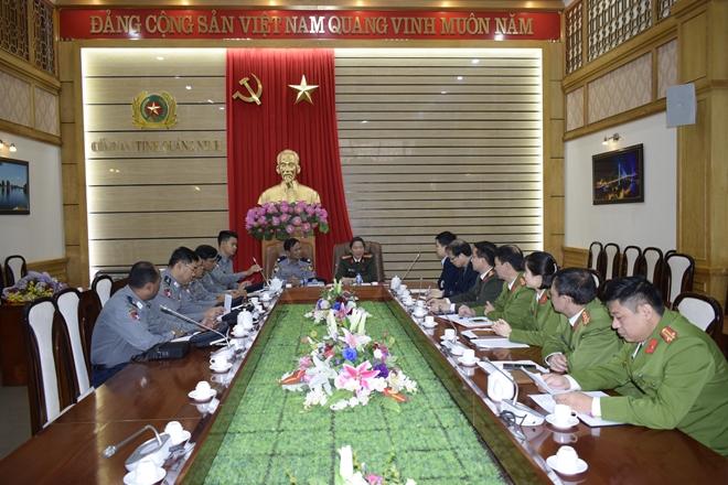 Công an Quảng Ninh làm việc với Đoàn đại biểu Bộ Nội vụ Myanmar