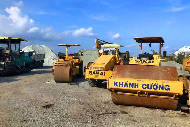 Trạm trộn bê tông nhựa nóng thuộc Công ty TNHH Khánh Cường.