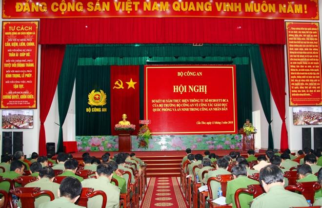 Hội nghị sơ kết công tác giáo dục Quốc phòng và An ninh trong CAND