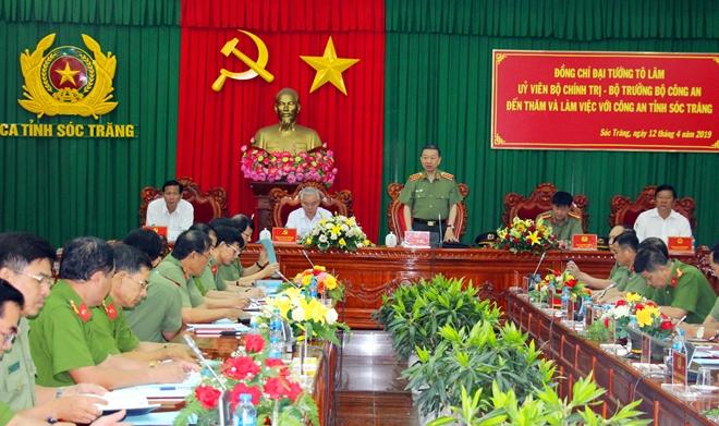Bộ trưởng Tô Lâm kiểm tra công tác tại Công an tỉnh Sóc Trăng - Ảnh minh hoạ 3