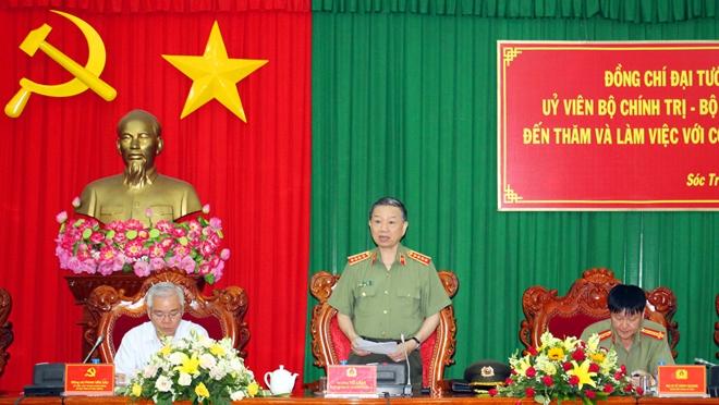 Bộ trưởng Tô Lâm kiểm tra công tác tại Công an tỉnh Sóc Trăng - Ảnh minh hoạ 4