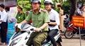 Công an tỉnh Cà Mau thành lập đội xe ôm tiếp sức mùa thi