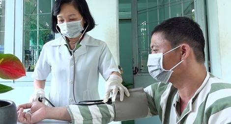 Công tác phòng, chống COVID-19 ghi tại Trại tạm giam Công an tỉnh An Giang
