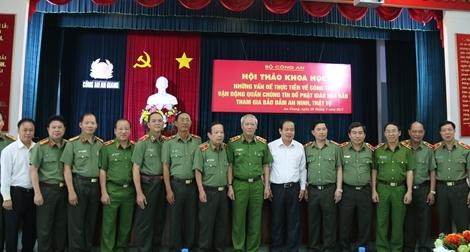 Vận động quần chúng tín đồ Phật giáo Hòa Hảo tham gia bảo đảm an ninh trật tự