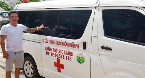 Chủ tiệm cơ khí ở Sóc Trăng mua xe cứu thương chuyển bệnh miễn phí