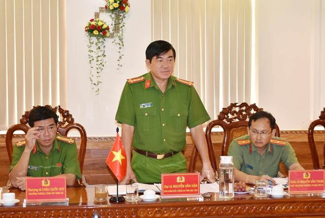 Đoàn công tác Đại sứ quán Hoa Kỳ làm việc với Công an tỉnh Bạc Liêu