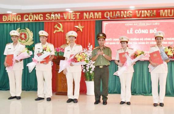 Thành lập Cơ quan Ủy ban kiểm tra Đảng ủy Công an tỉnh Bạc Liêu
