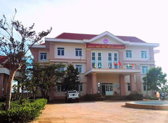 Trụ sở UBND xã Nhân Cơ, nơi ông Trưởng từng công tác
