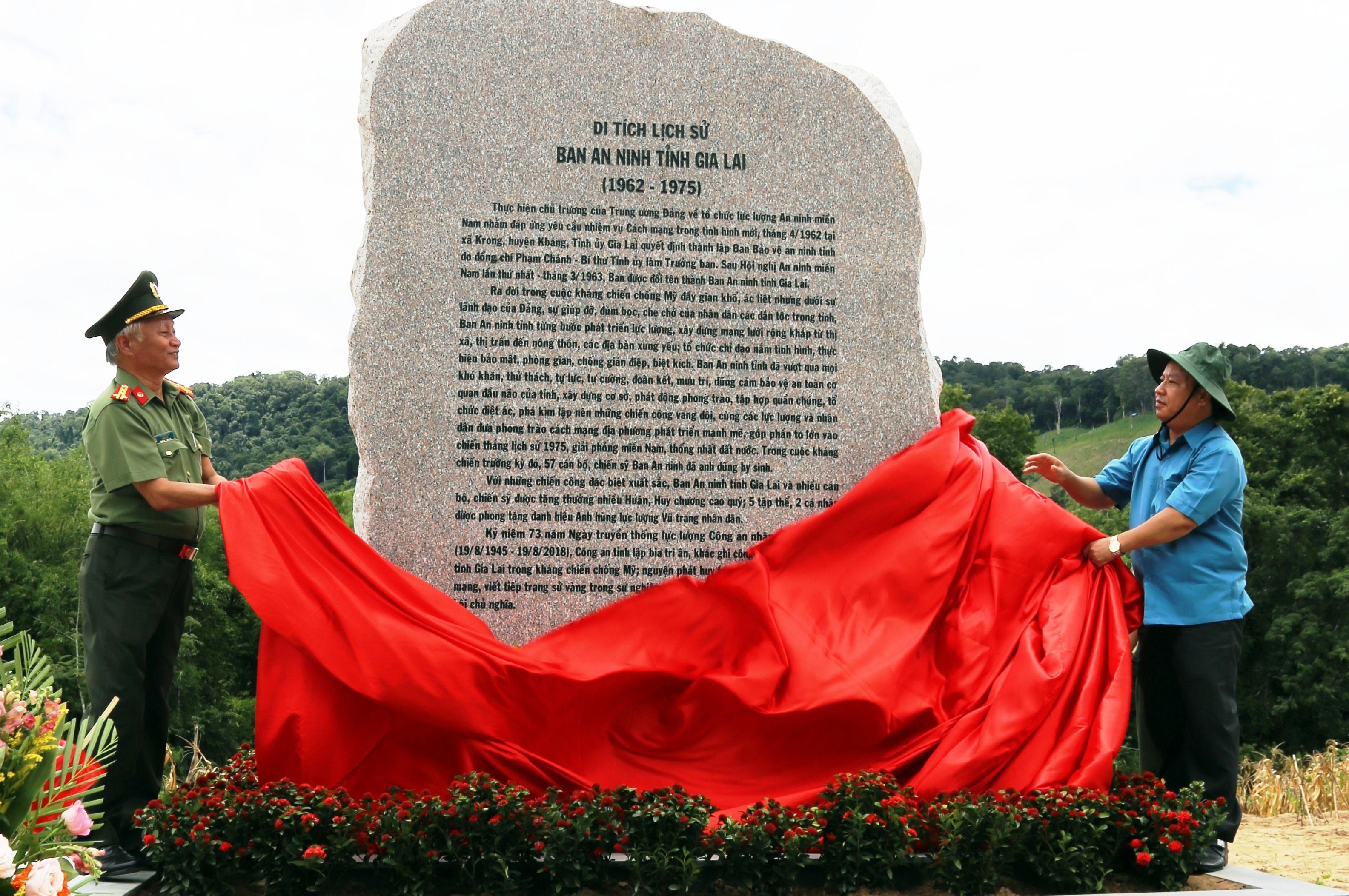 Khánh thành Di tích lịch sử Ban An ninh tỉnh Gia Lai