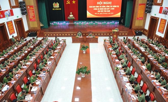 Hội nghị giao ban công tác Đảng CAND khu vực phía Nam
