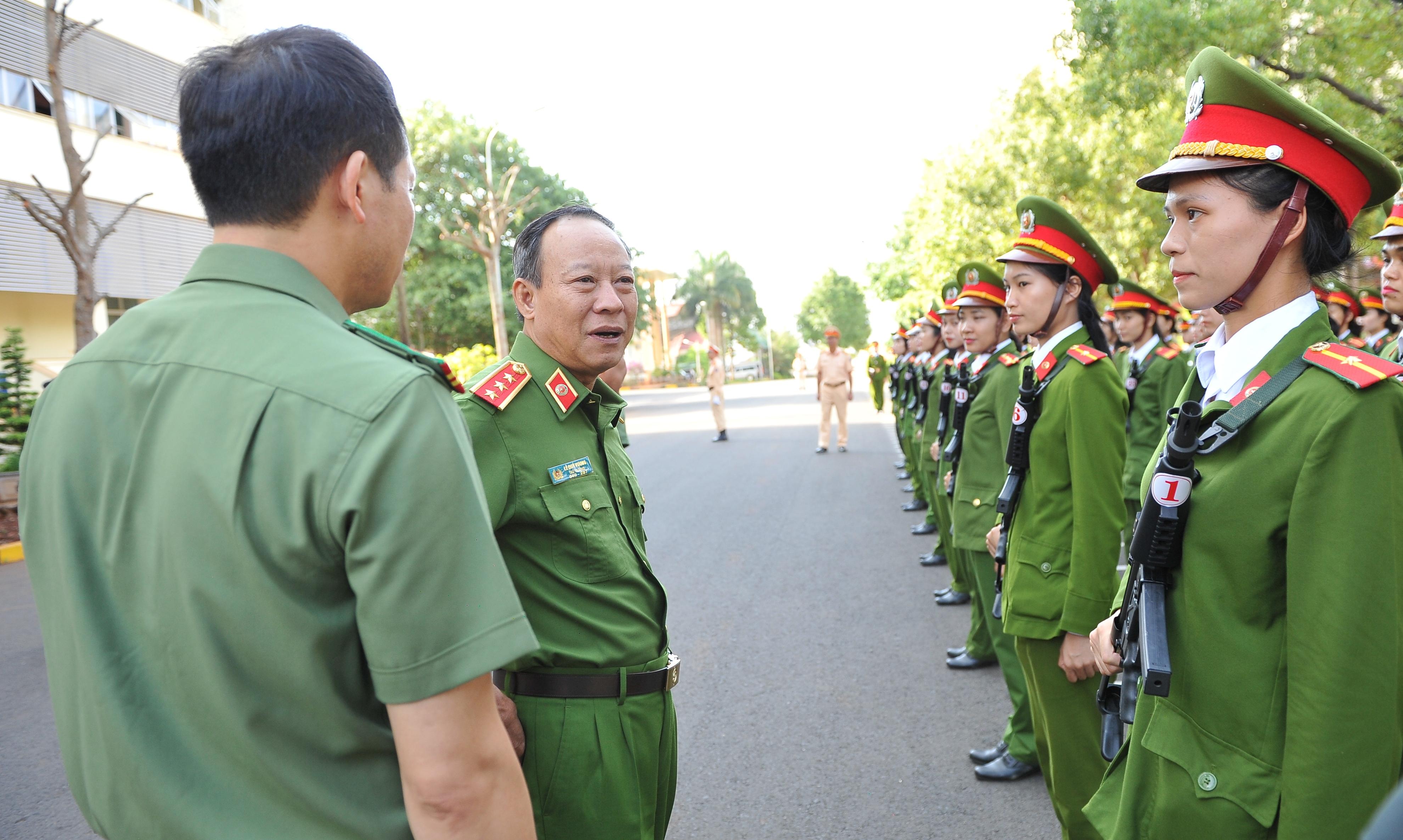 Thứ trưởng Lê Quý Vương làm việc với Công an Đắk Lắk