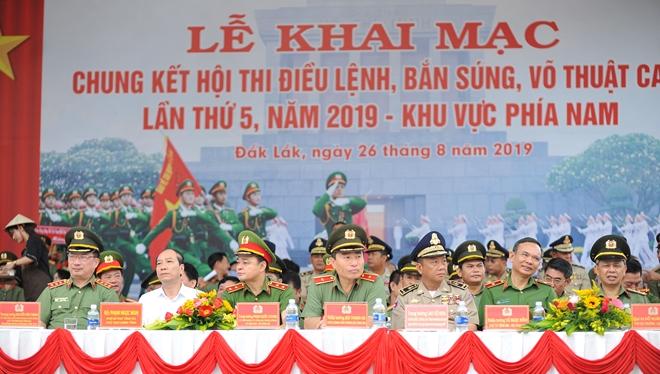 Khai mạc Chung kết Hội thi điều lệnh, bắn súng, võ thuật CAND khu vực phía Nam lần thứ 5 - Ảnh minh hoạ 3