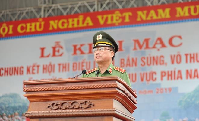 Khai mạc Chung kết Hội thi điều lệnh, bắn súng, võ thuật CAND khu vực phía Nam lần thứ 5