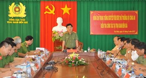 Lãnh đạo Bộ Công an kiểm tra công tác tại Trại giam Bến Giá
