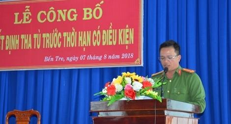 Trại giam Châu Bình, Ngọc Lý công bố quyết định tha tù trước thời hạn