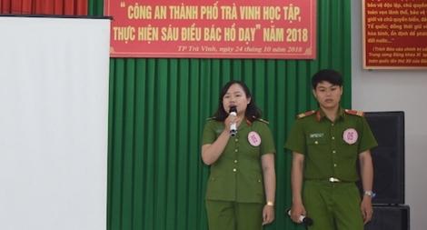 """Công an TP Trà Vinh tổ chức hội thi """"Học tập, thực hiện Sáu điều Bác Hồ dạy"""""""