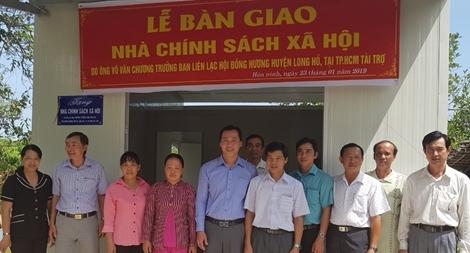 Trao 2 căn nhà cho gia đình chính sách ở Vĩnh Long