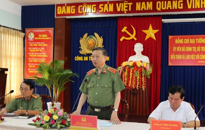 Bộ trưởng Tô Lâm kiểm tra, chỉ đạo công tác tại Công an tỉnh Trà Vinh - Ảnh minh hoạ 6