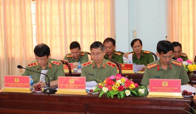 Bộ trưởng Tô Lâm kiểm tra, chỉ đạo công tác tại Công an tỉnh Trà Vinh - Ảnh minh hoạ 3