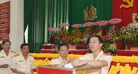 Công an Trà Vinh tổ chức Đại hội Đảng bộ, nhiệm kỳ 2020 - 2025