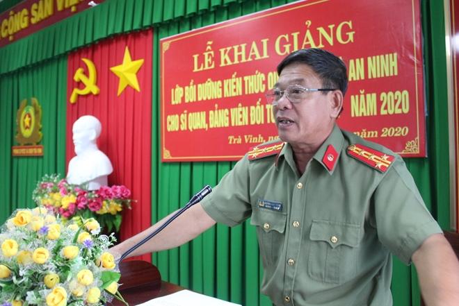 Công an Trà Vinh khai giảng lớp bồi dưỡng kiến thức quốc phòng – an ninh