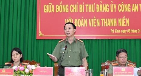 Giám đốc Công an tỉnh Trà Vinh đối thoại với đoàn viên, thanh niên
