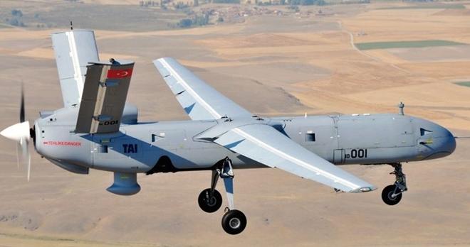 Một chiếc UAV tấn công của Thổ Nhĩ Kỳ. Ảnh: ITN