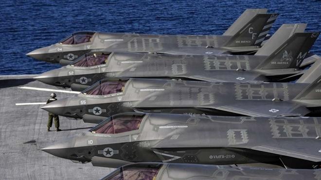 Một dàn F-35 của quân đội Mỹ. Ảnh: ITN