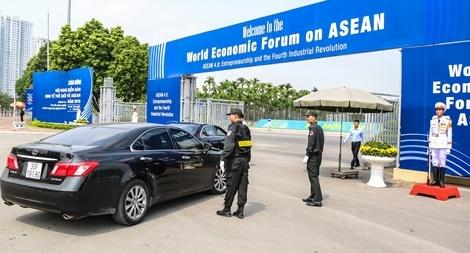 An ninh thắt chặt trong ngày làm việc quan trọng của WEF ASEAN 2018