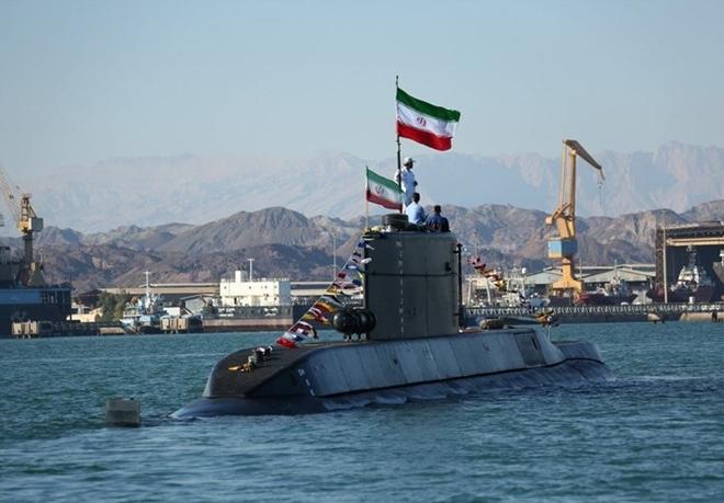 Tàu ngầm Fateh của Hải quân Iran. Ảnh: ITN