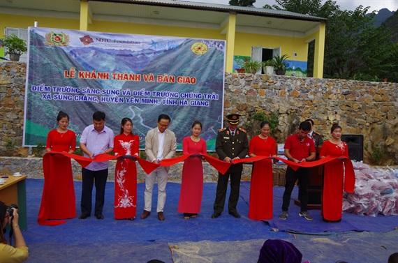 Thanh niên Cảnh vệ CAND chung tay xây trường học tại Hà Giang