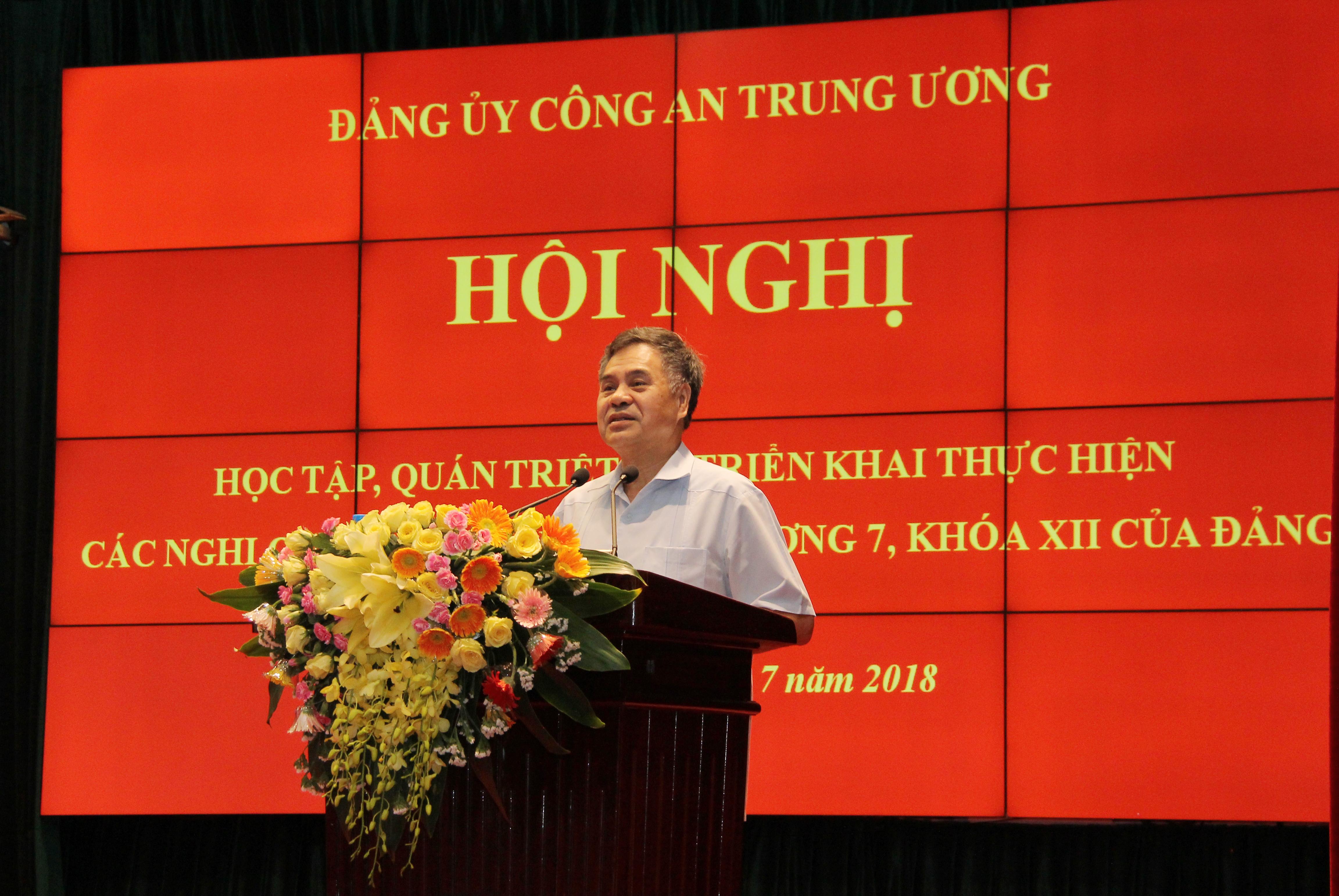 Bộ Công an triển khai thực hiện các Nghị quyết Hội nghị Trung ương 7