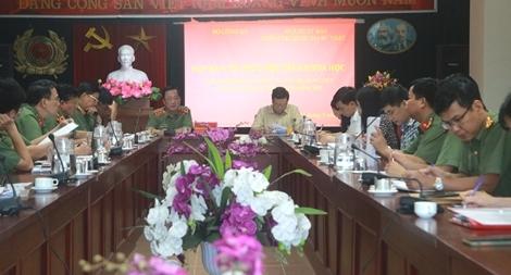 Thống nhất phương án tổ chức hội thảo nhân 75 năm Ngày Truyền thống CAND