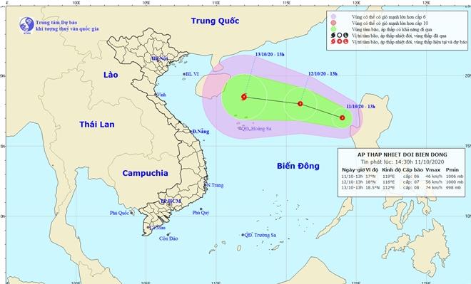 Chủ động ứng phó với vùng áp thấp trên Biển Đông và mưa lớn diện rộng