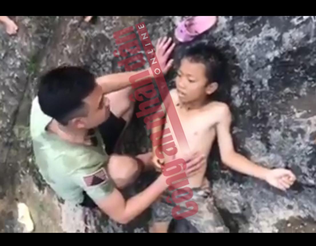 Chiến sỹ Công an dũng cảm cứu cháu bé bị đuối nước