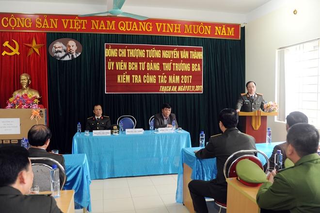Thứ trưởng Nguyễn Văn Thành kiểm tra công tác tại Công an tỉnh Cao Bằng - Ảnh minh hoạ 5