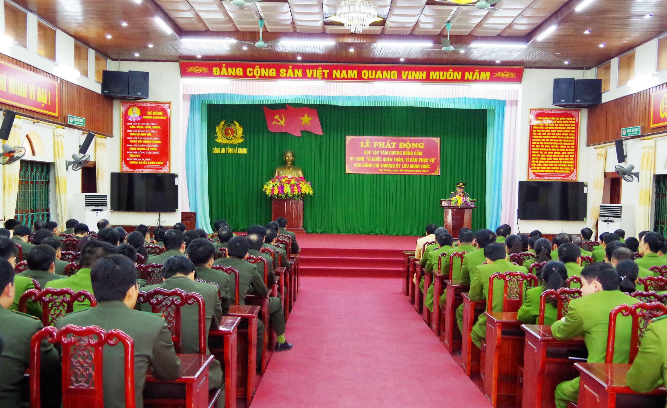 Phát động thi đua học tập, noi gương tinh thần dũng cảm hy sinh của Thượng úy Lưu Minh Thức