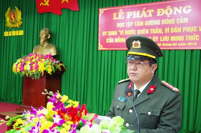 Phát động thi đua học tập, noi gương tinh thần dũng cảm hy sinh của Thượng úy Lưu Minh Thức - Ảnh minh hoạ 2