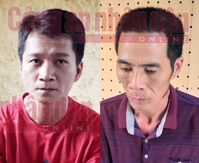 Đối tượng Vương Văn Hùng và Phạm Văn Nhiệm.